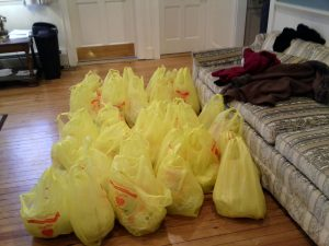 Donated Thanksgiving turkeys